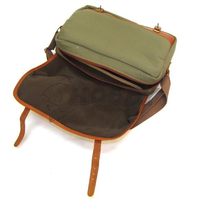 f4e6eb7bb Poľovnícka Taška na plece textil kombinovaný s kožou - Rybárske a ...