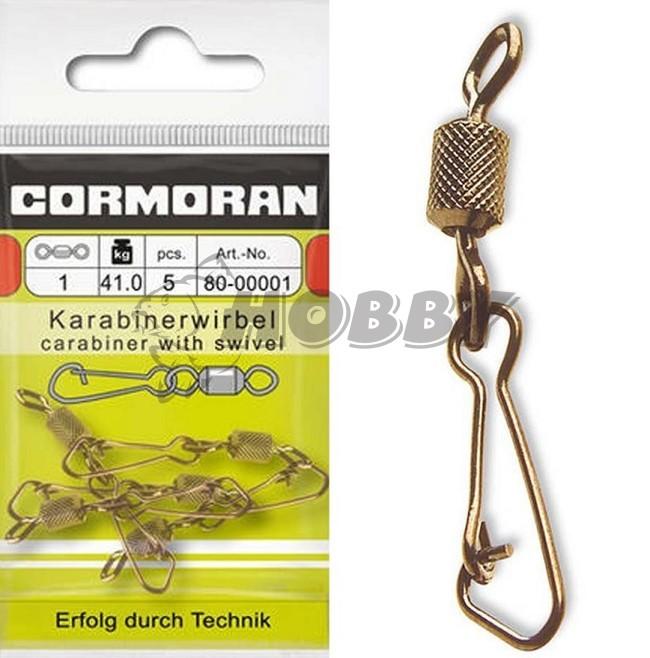 Cormoran CORTEST Wirbel mit Sicherheitskarabiner Gr.2