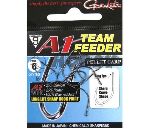 Gamakatsu A1 Team Feeder Pellet Carp Háčiky Očkové veľ.10/10ks