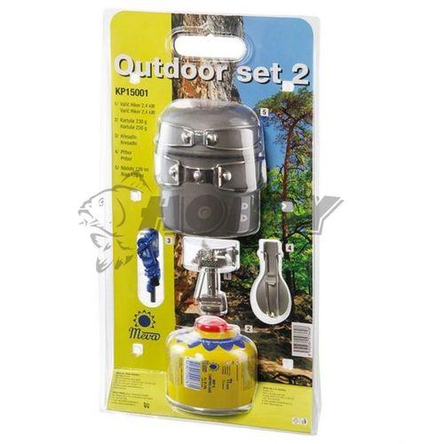 Outdoor Set 2 - Varič, nádoby, príbor, kresadlo
