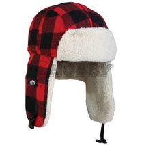 Čiapka Eiger Fleece Korean Hat Red Check veľ.S/M