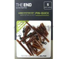 Delphin Montáž THE END na olovo pin-quick / 5ks