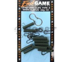 End Game Lead Link Clips With Sleeve 10ks