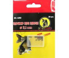 Extra Carp Round Rig Rings 3.1mm 20ks