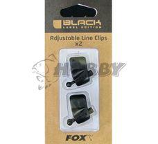 FOX Black Label Adjustable Rod Line Clip 2ks
