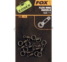 FOX Edges obratlík s krúžkom edges flexi ring swivels č11/10ks