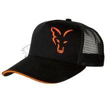 FOX Šiltovka Black/Orange Trucker Cap