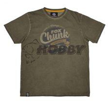 FOX Tričko Chunk Stonewash T-Shirt Khaki veľ.M