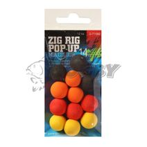 Giants Fishing Penové boilie Zig Rig Pop-Up mix color 14mm/12ks