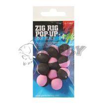 Giants Fishing Penové boilie Zig Rig Pop-Up pink-black14mm/10ks