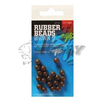 Giants Fishing Rubber Beads 4mm/20ks Transparent Brown