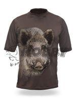 Hillman Wild Boar 3D T-Shirt Short Sleeve-diviak, farba OAK veľ.L
