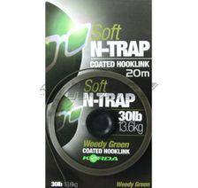 Korda Nadväzcová Šnúra Soft N-Trap Weedy Green 30lb/13,6kg/20m