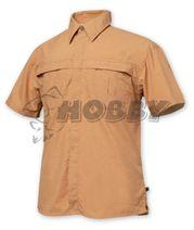 Košeľa Geoff Anderson Morada krátky rukáv tehlová