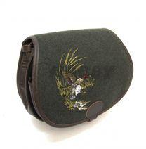 Kožená poľovnícka taška cez rameno kačica