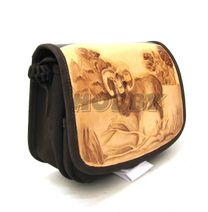 Kožená taška cez rameno vzor Muflón