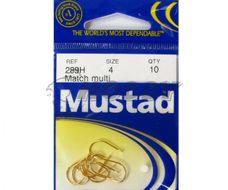 Mustad Háčiky Lopatkové Match Multi Zlaté 289H č.8 10ks