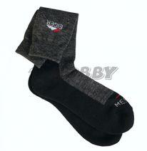 Ponožky Eiger Merino Wool Sock Grey Black 44/47 - 9/12