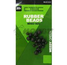 Spro C-TEC Rubber Beads Green (3,8mm+5,8mm) 20ks