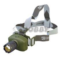Svietiaca LED čelovka s fokusom na 3x AAA, 1x LED 3W