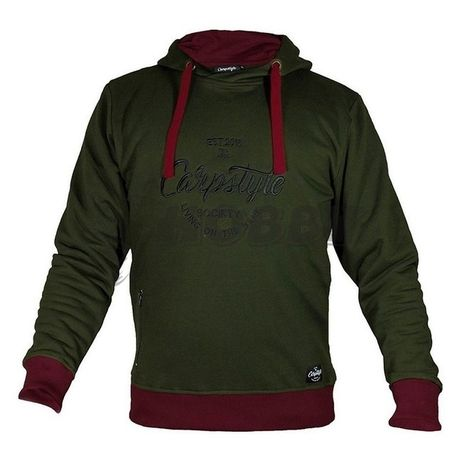 Carpstyle Mikina Green Forest Hoodie - L