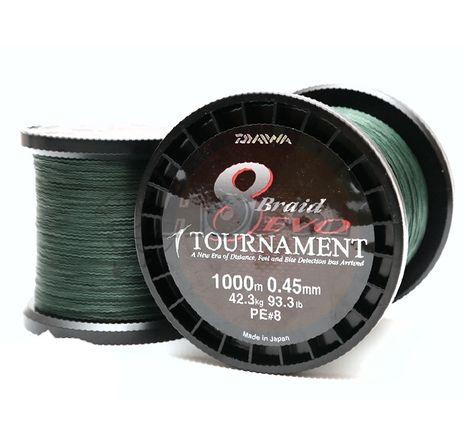 Daiwa Tournament 8 B Evo 0,18mm/15,8kg/1m Dark Green