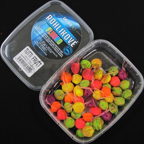 Delikapet Fluoro Rohlíkové boilies Tutti Frutti 30g