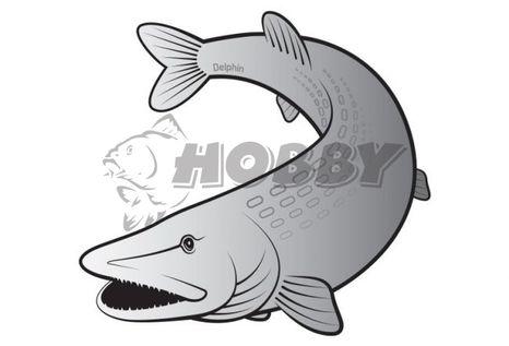 Delphin Nálepka - Šťuka SILVER