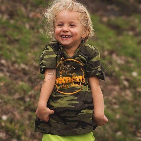 Detské tričko Mikbaits Camou 10-14 rokov