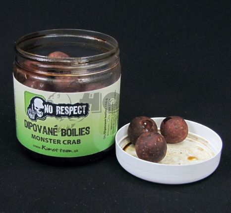 No Respect Dipované Boilies Fish Liver Monster Crab 24mm/150g