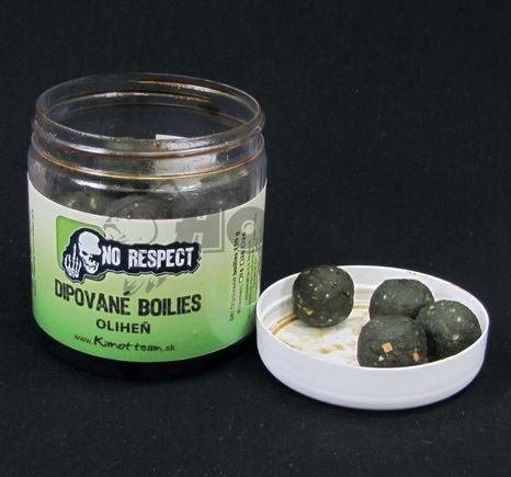 No Respect Dipované Boilies Fish Liver Oliheň 24mm/150g