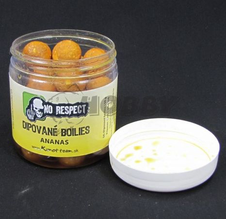 No Respect Dipované Boilies Sweet Gold Ananás 20mm/150g