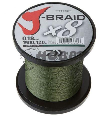 Šnúra Daiwa J-Braid X8 0,24mm/18,0kg/1m green