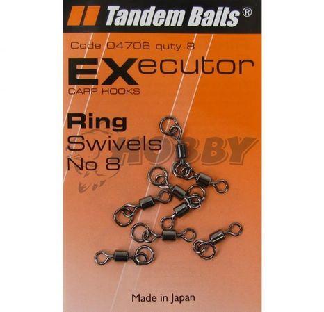 Tandem Baits FC Carp swivels with ring č. 8/8ks