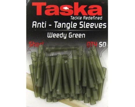 Taska Anti-Tangle Sleeves Short Weedy Green 50ks