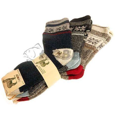 TIF zdravotné ponožky AMZF 3ks z ovčej vlny far. mix 44-47