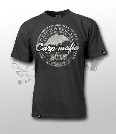 Tričko CARP MAFIA L Graphite