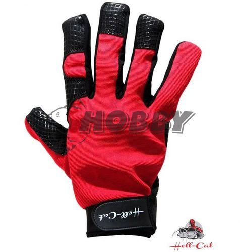 Rukavice Hell-Cat čierno-červené vel.XL