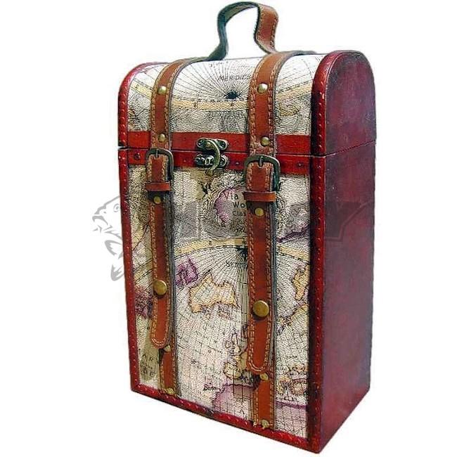 4d8ebaa55 TIF Kazeta dekoračná na 2 fľaše vína stará mapa sveta - Rybárske a ...